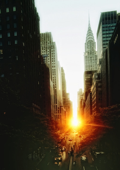 landscapelifescape: Manhattan, New York, USA a new york sunset (by mudpig)
