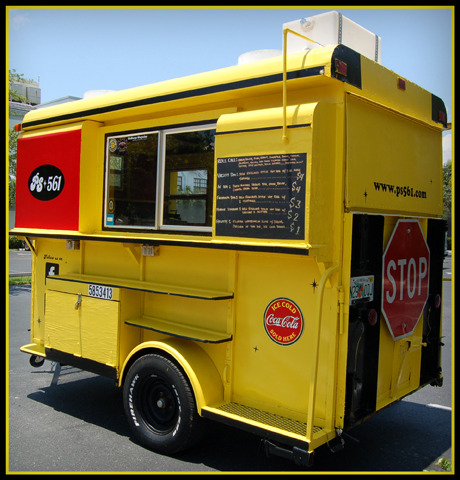 wemerge:  Official WeMerge Food Truck  PS561 is an old school bus styled food truck, serving New England style hot dogs with a wide variety of toppings. We also serve veggie dogs and a rotation of snacks and cold drinks. Decked out in black and yellow with a big stop sign in the back, it is an eye catcher that is reminiscent of old school hip hop style and summertime. Our home base is Lake Worth, but we can be found at events and parties all over South Florida. Hit us up! www.PS561.com