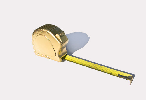 One Tape Measure to Rule Them All on Flickr.MSCED : 06/02/11 Gold Paint + Tape Measure —- Photo by David Schwen Follow: Twitter / Facebook / Tumblr / Behance