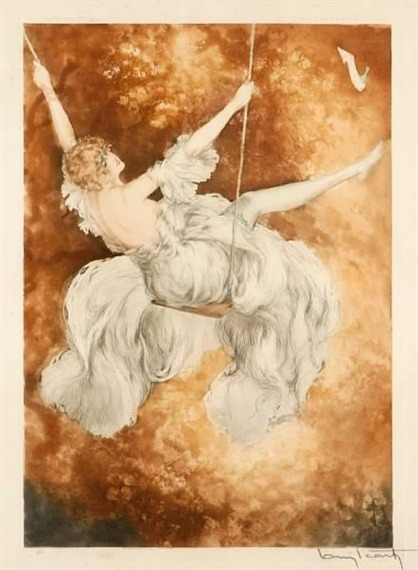 """Swing"" by Louis Icart - 1928"