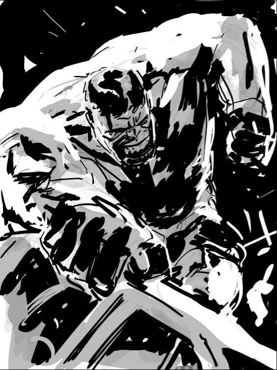 Quick Hulk rough.