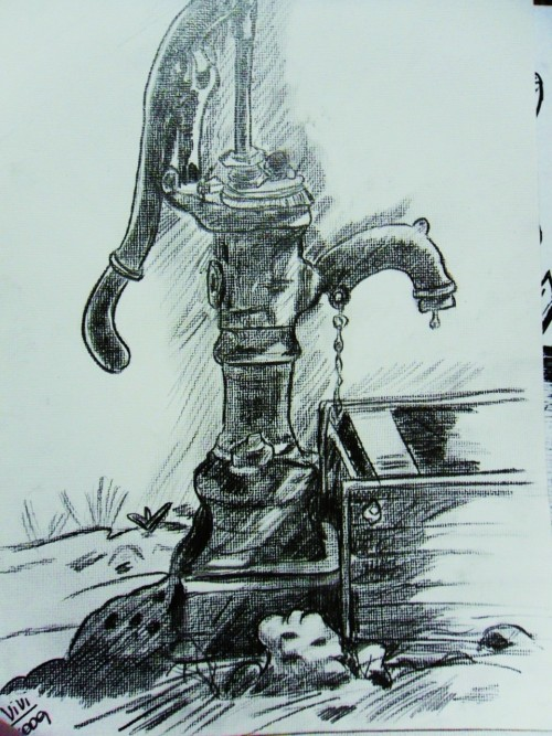 Old water pump - graphite