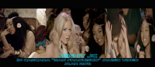 "Jenny JC in Cascada ""San Francisco"" Music Video. This video was a very fun music video and it's a great dance/pop song. Meeting and working with Cascada was great, she's very nice! I am on the disco bus sleeping and later on beside Cascada, where we are dancing and having fun! March 2011. Shoutouts to all the dancers! Enjoy the music video! CHECK OUT THE VIDEO (CLICK LINK BELOW)  http://www.youtube.com/watch?v=Arf4TNMUyJI"