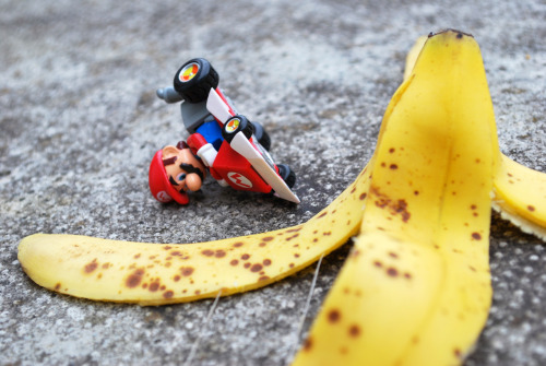 Karma is when you throw a banana on Mario Cart and end up slipping on it.