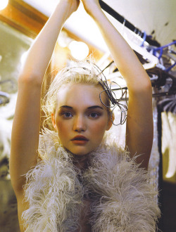 "thecoutureatelier:    ""Bollywood Dream"" with Gemma Ward Vogue India October 2007 Photographed by Patrick Demarchelier"