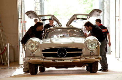 """The Ralph Lauren Collection: 1955 Mercedes 300 SL Gullwing Coupe gets the once, twice, thrice - over from Museum experts who inspect and document every component."""