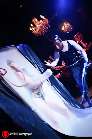 Vertical Vacbed used in the Miss Rubber World stage show at Torture Garden Toronto.  Big hit with the crowd.  (via Torture Garden Toronto 2011)