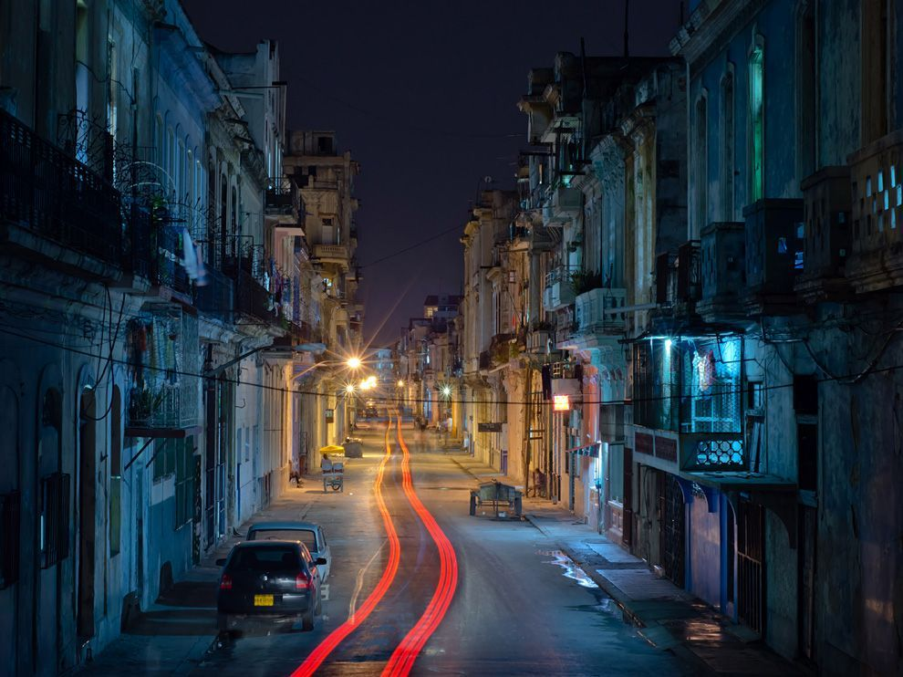 Centro Habana Photograph by Dave Rodden-Shortt Taken in Centro Habana late at night.  Wandering the streets of Havana at night feels magical.