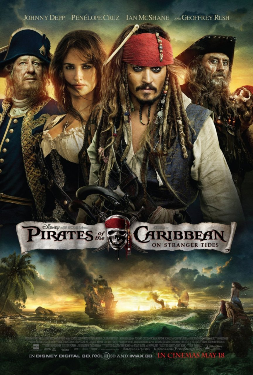 "Just Watched: Pirates of the Carribean: On Stranger Tides Captain Jack Sparrow (Johnny Depp) is back again, after four long years. Only this time, there's no Will Turner (Orlando Bloom) and Elizabeth  Swann (Keira Knightley) around. In Pirates of the Caribbean: At World's End, we saw him with the map the ""Fountain of Youth"". This time around, there are a number of forces trying to reach the Fountain for their own selfish reasons. Sparrow meets Barbossa (Geoffrey Rush) again and is obviously surprised to see him as a privateer working for the British empire. Then there's Blackbeard (Ian McShane), the most fearful pirate of them all and the mysterious Angelica (Penélope Cruz), with whom Jack has a rather interesting history. Throw the Spanish conquistadors and some beautiful yet creepy mermaids in and you seem to be all set for an entertainer, and that is exactly what you get. But the down side is that it doesn't really live up to all the hype, and that is a sad thing in any major film franchise. Rob Marshall, who is supposed to be a ""safe"" director manages to make most of the film predictable and this is something that doesn't work for the film. Performance wise, I felt Johnny Depp could have been way better. His character is living up to the stereotype and is appearing a little stale although there are moments of brilliance. Geoffrey Rush is brilliant and so is Ian McShane. Judi Dench has scene too and she's done pretty well in it. The star of the show has to be Penélope Cruz. Besides being drop dead gorgeous she charms you with her exuberance and also has an amazing on-screen chemistry with Depp. I don't thing she's gone wrong in a long time and I just keep becoming a bigger fan of her with every movie. Hans Zimmer's music is wonderful too. If you want to have a fun evening at the movies, this film is a very good watch but lower your expectations a little bit for you may not get what you want. By the way, this is the first film I saw at Glitz Cinemas, Dehradun's first multiplex, which is a good thing as Hollywood flicks used to be dubbed in Hindi before this for all the cinemas in town. Thankfully there's an exception now. Personal Rating: 7.4/10"