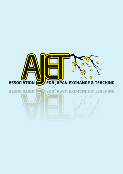 I had another go at redesigning the AJET logo. I wanted to move away from their current circular design, but keep it very Japanese. I like stuck with the modern but curved lines of neo-sans and cherry blossom is always popular. Rather than worry about trying to change the perspective of the different individual flowers I though I would have the petals beginning to fall to ad a bit of asymmetry for visual interest. It was an interesting problem bit of trial and error working out how I could attach the branch to the lettering since it looked wrong if the who thin was outline in black and yellow.  Have a Nice weekend.