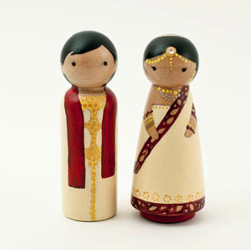 'one indian friend' cake topper via A CUP OF JO