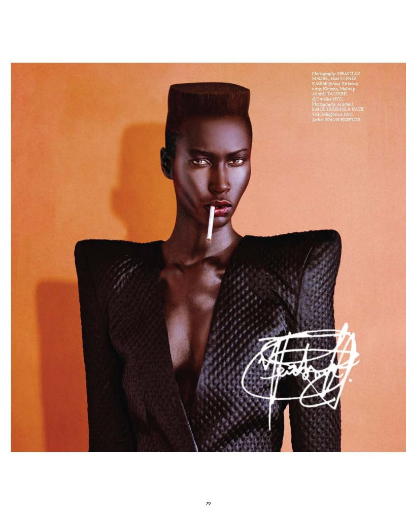 The Icons Virgine #1 Alguna modelo que no conozco como Grace Jones. Estilismo de Hissa Igarashi. ….. An unknown (by me) model as Grace Jones. Styling by Hissa Igarashi.