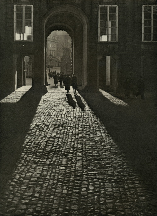 Josef Sudek, View of the First Courtyard through the Matthias Gate