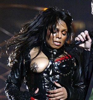 "Janet Jackson's ""wardrobe malfunction."" As a live musical performance, the SB XXXVIII halftime show was kind of boring.  But as political theatre, OMG.  MTV permanently banned from the Superbowl!  Half a million complaints to the FCC!  Two lawsuits!  A half-million dollar fine!  Massive chilling effect on soap operas and talk radio!  Surge in the popularity of nipple shields!  Americans look like idiots! Sigh. Perhaps the most depressing thing was that Jackson and Timberlake couldn't come out and say ""Yeah, we thought popping out a boob during a song about getting naked would be fun and sexy, and we figured you people could handle it.""  No, they had to explain it as an accident. There it is: the most dangerous breast in America."