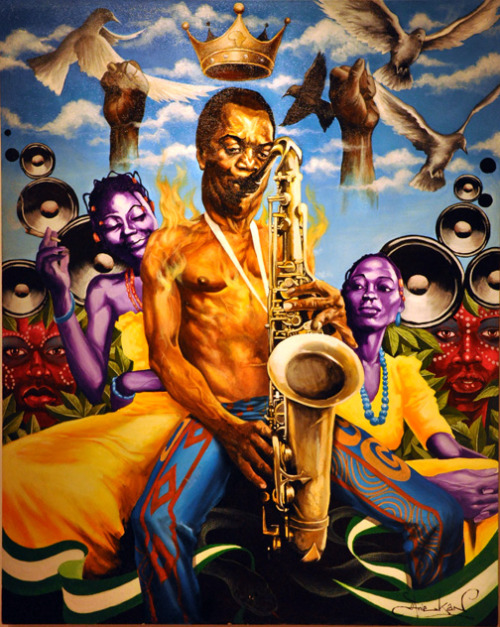Uncle Fela…. LEGEND   Artwork by Aniekan Udofia.