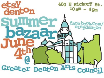 Tomorrow is Etsy Denton's Summer Bazaar! It's going to be awesome, and it will be Gynx Yarns' first appearance!