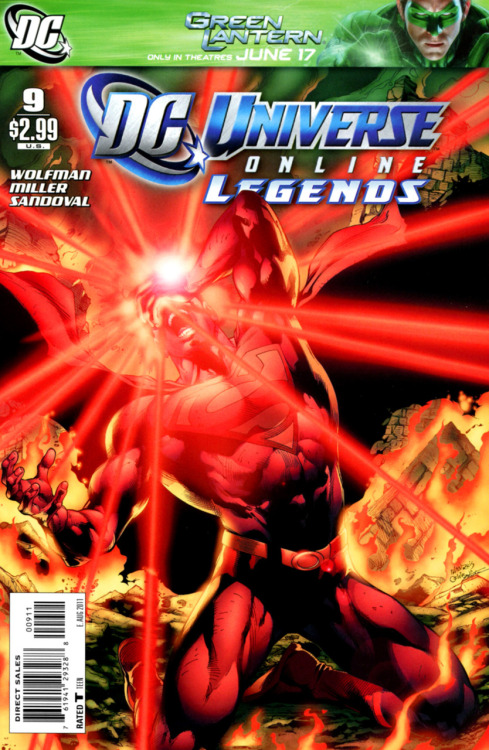 "DC Universe Online Legends #9 Issue Score: 9/10 Issue #9 focuses mainly on Superman and his devotion to Lois. It all starts with a dream of Lois and him in space on the moon. They are having a romantic time, but Lois' suit has a tear and the vacuum it creates kills her. Superman wakes up and proceeds for the rest of the issue to try to save Lois. Lex's plan from the last issue continues, and Superman still has no idea this is all a set up to take him down. Lex brings the Daily Planet bottle back to Earth and restores it. However, this is a distraction and an exobyte bites Superman and may have stolen one of his powers. In Superman's quest to save Lois, he leaves the other heroes to fight off an army of super villains that Braniac releases. At the end of the comic, Batman calls Superman and upon his arrival it is revealed that because of Superman's decision to save Lois and leave the heroes to fight without him, J'onn has been drained of all his powers by exobytes that were a part of the attack. The Martian Manhunter is no more. J'onn is completely helpless. Batman gives Superman an ultimatum; he must decide if saving his loved ones or the world is more important. Issue #9 really reached a new high for this series. The ""death"" of Lois was excellently done and was quite shocking because of the violent way in which it happened and the fact that there was no hint at all of it coming. It was just a punch in the face and it worked so well. The degradation of Clark's judgment due to emotions really showed a more human side of him because even the Man of Steel can screw up and despite his best intentions, cannot save everyone. It took him off of his pedestal as an icon and showed him as a man. Furthermore in this issue, I found both Lex's deception actually working and J'onn's loss of powers to be completely awesome and unexpected. I really thought that Superman would have seen through Lex's deception, but he did not due to his clouded judgment. The J'onn situation completely flabbergasted me because in this universe, the Martian Manhunter is no more. Though he is still living, DC has essentially killed him off and really set up the dire situation of Brainiac's invasion because honestly, Clark and J'onn are the only two heroes that could have a shot at defeating him. With J'onn out of the picture, it is up to Superman alone. I am looking forward to the next issue."