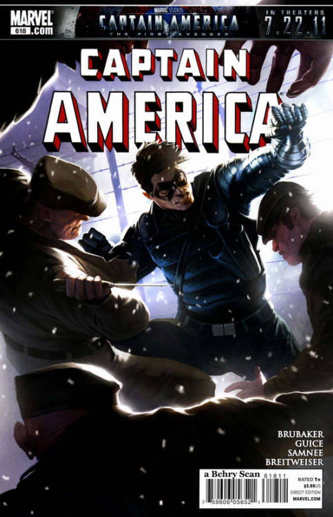 Captain America #618, July 2011, written by Ed Brubaker, penciled by Butch Guice and Chris Samnee