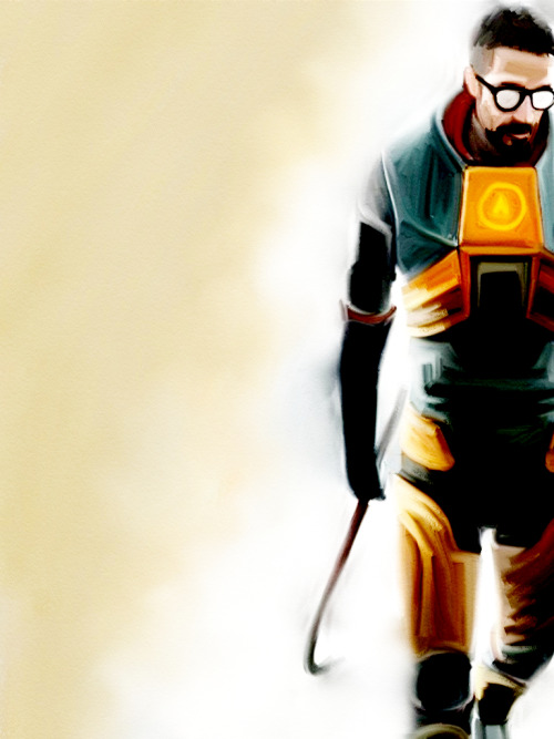 videogamenostalgia:  Half Life // By: Lewis Gaston   Love this game.