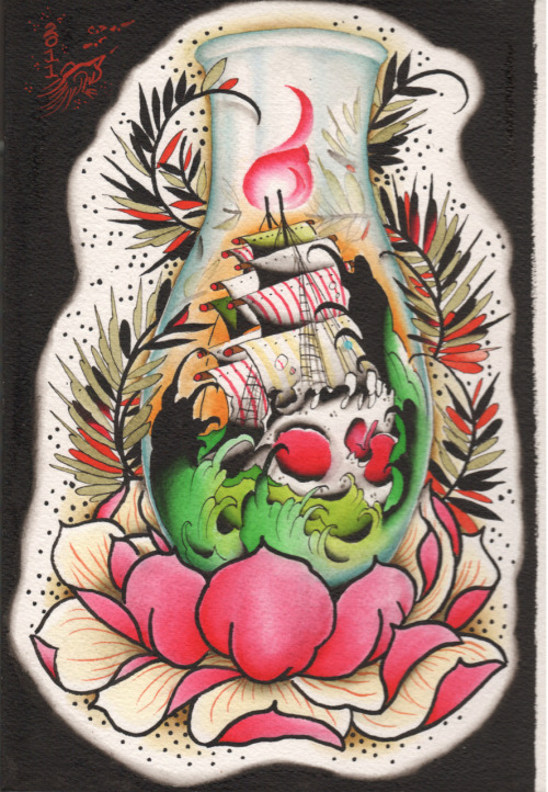 tattooflash:  Andy Johnson, Metamorphic Tattoo.