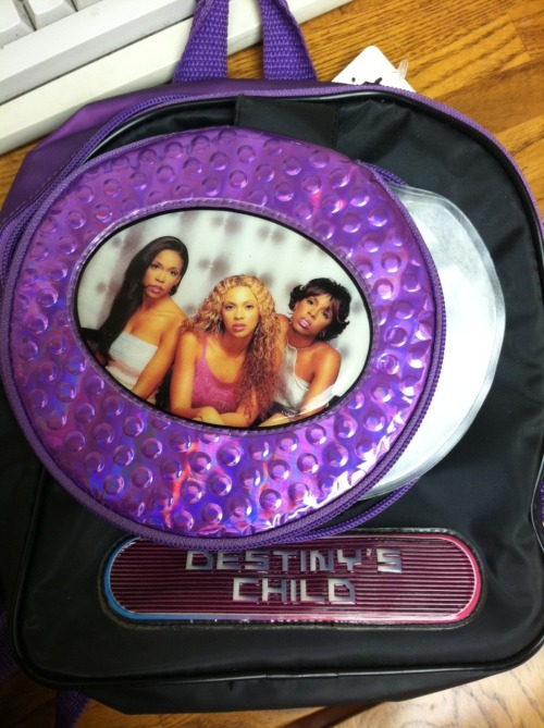 Destiny's Child backpack with CD case