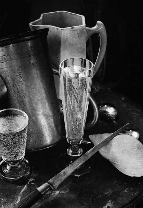 Boris Smelov, Still life with two glasses, 1970