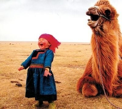 adrianastyle:  Laughing in Mongolia