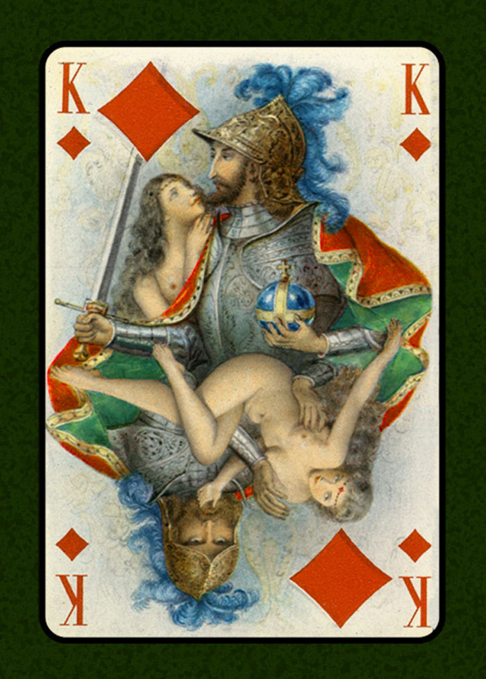 King of Diamonds Illustration by Emile Becat