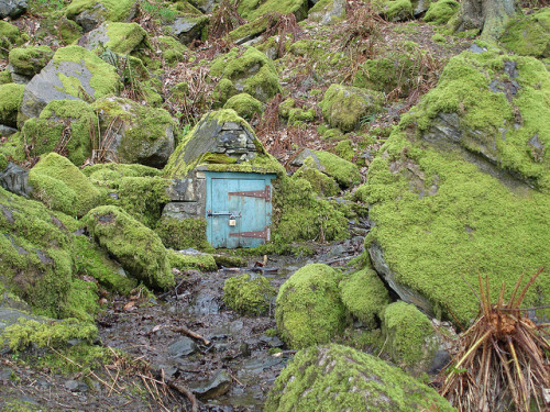 knock knock … who lives there? justcallmegrace:  Fairy House by Lake Windermere