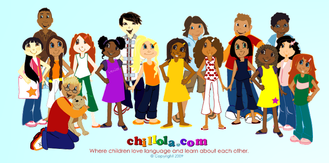 "Chillola is a nice site where students can learn their first words in English, Spanish, French,German and Italian.  From the site: ""You can print out activities, participate in the kids' gallery and learn about different countries, cultures and people. This site is designed for kids to encourage language learning, and have great fun with foreign languages. Our mission is to encourage kids to learn, be creative, be active, have fun, and to help parents by providing worksheets and tools that promote language learning. To get started pick a topic, turn on your speakers, click on the words, and listen. Click on the flag buttons to see the sites in English, Spanish, French, German and Italian."" Added to  Countries for Kids"
