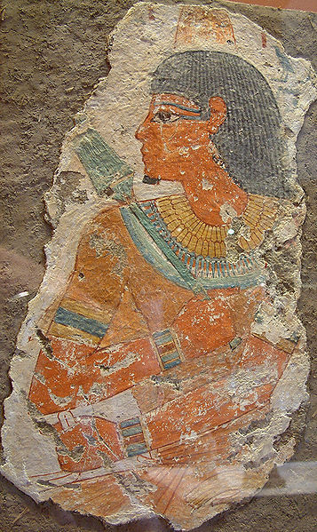 Fragment of an Egyptian wall painting