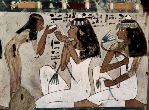 Egyptian wall painting c. 1448-1422 BCE