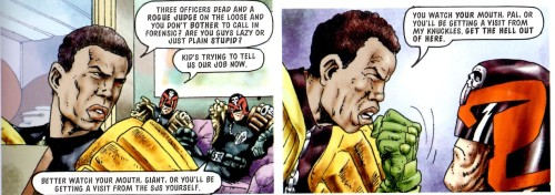 That line was worthy of your old man, junior. From 'The Pit' Pt 8, Prog 977.