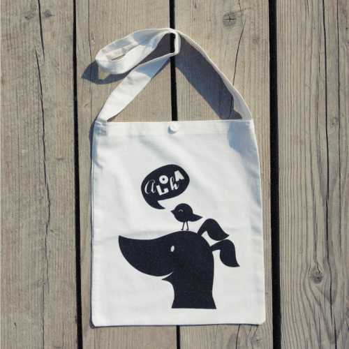 New item added to our shop:  Nipper & Lulu Recycled Tote Bag - Pure white kid's tote bag recycled from previously loved pillowcases. Screen printed by bare hands of gifted craftsmen.Buy it now for €9