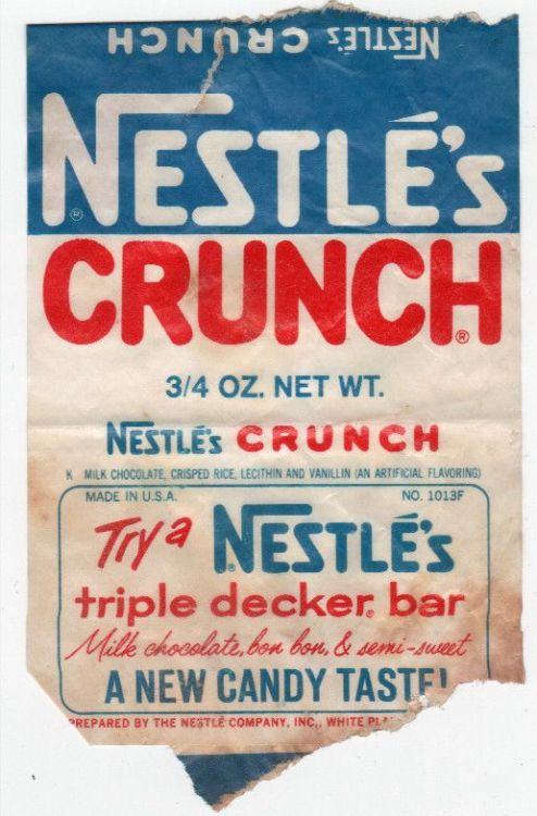 Daily inspiration: Vintage Nestle's Crunch Bar packaging (via: flickr)