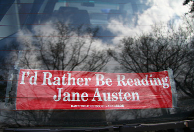 bookmania:  Bumper sticker and April sky (by Dancesmith)  I want one this!