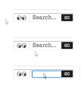 littlebigdetails:  Burton -  The eyes beside the search box follow your mouse around the page. /via Luke   I will use this  technique .