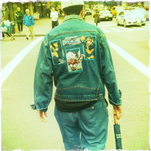 1990's denim X-men Jacket on Delancey.