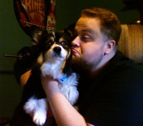 talentwithoutdesire:  GPOYAYC Gratuitous Picture of Yourself and Your Corgi *one Corgis were annoyed in the taking of these photos*  Corgi is NOT impressed!
