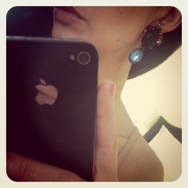 bug earring, for tonight. (Taken with instagram)