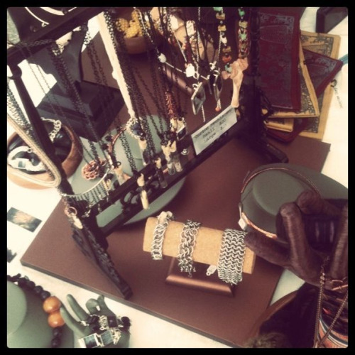 More jewelry display at the 2011 Butchertown art fair.