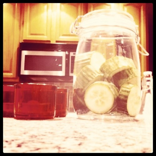 Cucumber gin infusion (Taken with instagram)