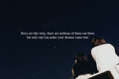 lovequotesrus:  Photo Courtesy: unknown  I guess I finally found my star!:D