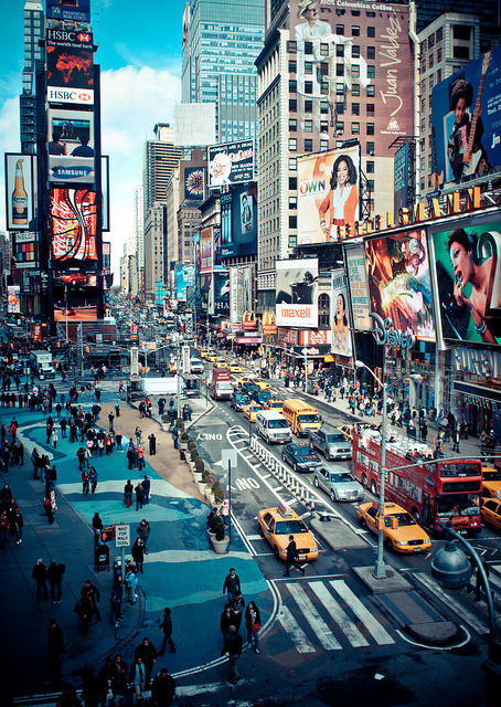 swedishmelonfuckers:  times square action - new york city (explored) by pamela ross on Flickr.