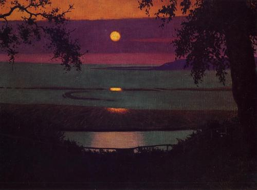 missfolly: 1918 Felix Vallotton (Swiss 1865-1925) ~ Sunset
