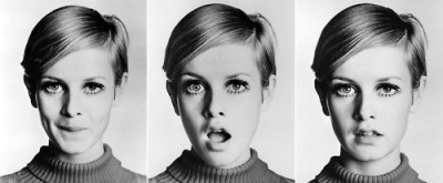 The many faces of Twiggy.