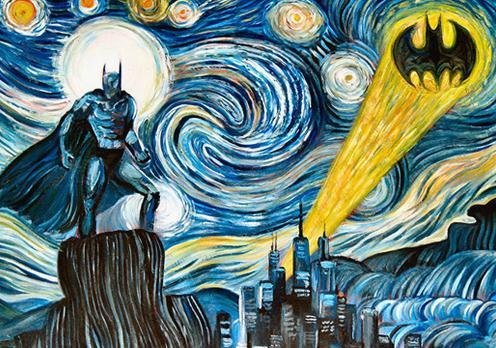 Van Gogh-am! Van Gogh painting reimagined as Gotham City…incredible :) (AAN)