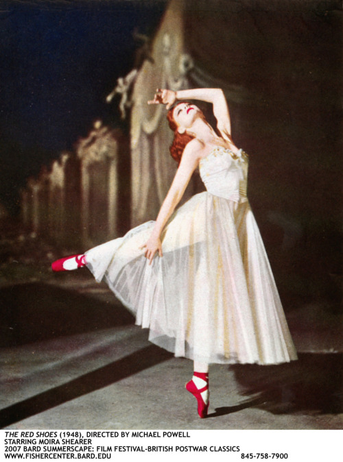 Moira Shearer in Powerll and Pressburger's The Red Shoes