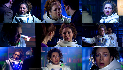 River Song in Silence in the Library (4.8)   The Doctor: Oh, you're not, are you? Tell me you're not archaeologists.Professor River Song: Got a problem with archaeologists?The Doctor: I'm a time traveler. I point and laugh at archaeologists.Professor River Song: [offering handshake] Ah. Professor River Song, archaeologist.