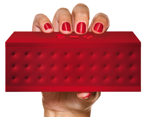 gregmelander:  JAMBOX Pair this wirelessly to your phone or iPad and you'll have a portable big sounding speaker. via Jawbone JAMBOX Wireless Speaker